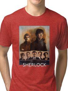 Sherlock Cast Portraits Tri-blend T-Shirt