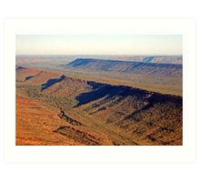 Mountain Range, South of Kununurra, Western Australia Art Print