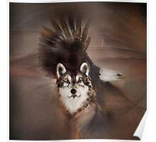 "Eagle wolf eagles wolves ""Eagle wolf"" animals,wildlife,wildlife art,nature Poster"