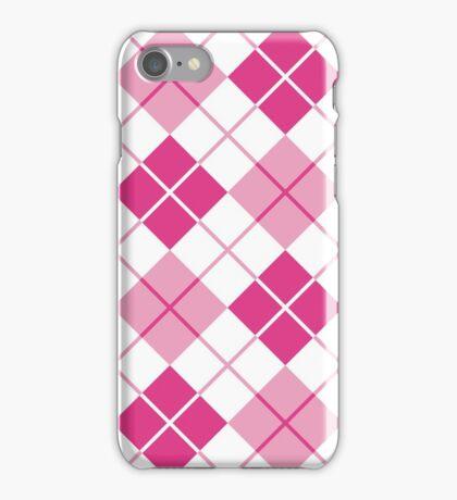 Pink Argyle Design iPhone Case/Skin