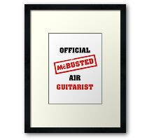 Official McBusted Air Guitarist Framed Print