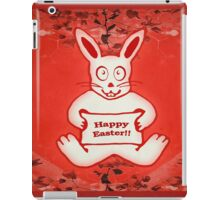 Cute Bunny Happy Easter Drawing Illustration Design iPad Case/Skin