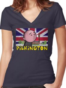 Karl Pilkington - Britains Finest Women's Fitted V-Neck T-Shirt
