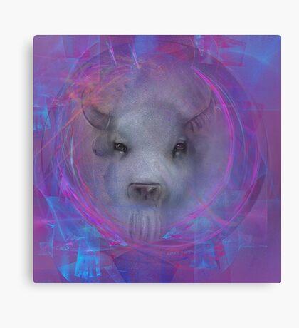 """""""White buffalo"""" buffalo """"native american"""" Indian Spirituality gifts popular """"best selling"""" beautiful Canvas Print"""