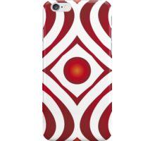 Modern - Red Waves iPhone Case/Skin