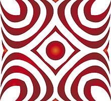 Modern - Red Waves by BorisBurakov