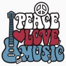 Patriotic Peace Love Music by Lisann