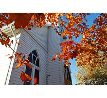 Country Church in Autumn Photographic Print