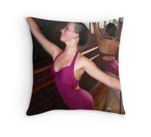 The purple leotard Throw Pillow