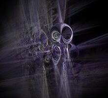 alien space modern galactic ufo modern,contemporary abstract digital purple by JackieFlaten