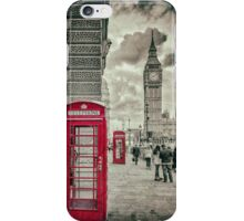 London Telephone Box iPhone Case/Skin