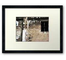 Texture Study with Window Framed Print