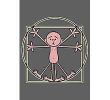 Karl Pilkington - Vitruvian Pilkington Photographic Print