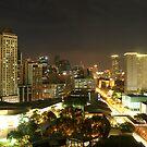 Makati City (Manila) at Night by NeilAlderney