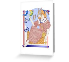 Flutterby Moon Greeting Card