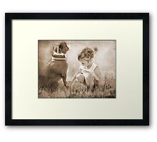 A Touch of Grass Framed Print