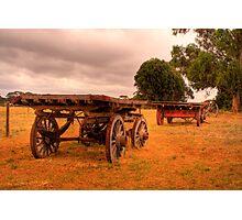Old carts at Kaiwarra, Kangaroo Island Photographic Print