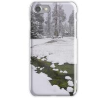 Snowy Creek and Rustic Structure iPhone Case/Skin