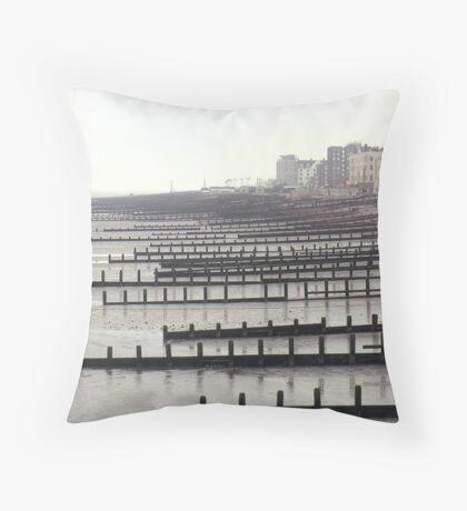 Breakwaters Throw Pillow