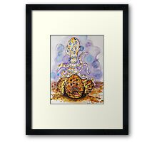 Blue Ring and Coral Framed Print
