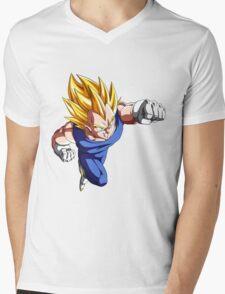 Vegeta Super Saiyan Sticker, etc. Mens V-Neck T-Shirt