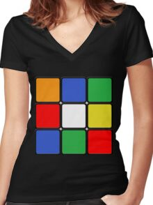 The Cube Women's Fitted V-Neck T-Shirt