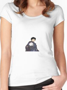 Roy Mustang Sticker Women's Fitted Scoop T-Shirt