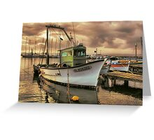 Old fisher boat Greeting Card