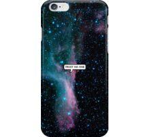 trust no one iPhone Case/Skin