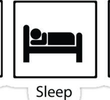 Eat, Sleep, BJJ Sticker