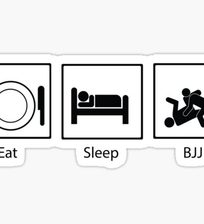 Eat, Sleep, BJJ Sticker