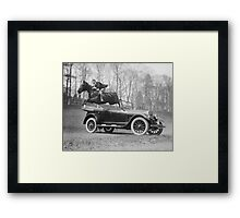 Horse Jumping Over Automobile, 1923 Framed Print