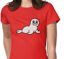 Comic seal baby Womens Fitted T-Shirt