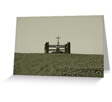 Lonely Grave Greeting Card