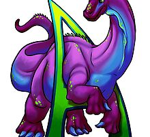 A for Apatosaurus by Swirlything