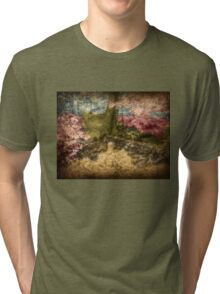 A Walk In The Mystical Woods - Infrared Series Tri-blend T-Shirt