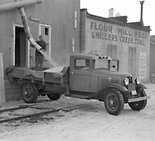 Grain Delivery Truck, 1937 by historyphoto