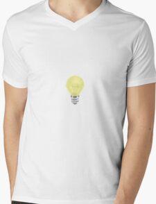 Yellow Lightbulb Mens V-Neck T-Shirt