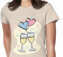 A Toast to Love Womens Fitted T-Shirt