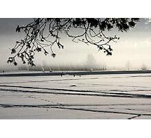 wintertime on the lake siljan Photographic Print
