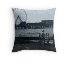 Central Pier, Blackpool. Throw Pillow