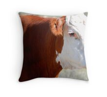Hereford Head Throw Pillow