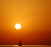 Sunset over the Aegean by txema olmo