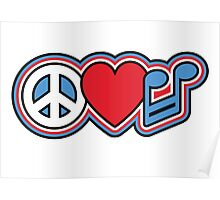 PEACE LOVE MUSIC Symbols Poster