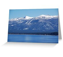 Blue Lake, Blue Sky Greeting Card