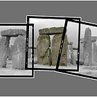 Stonehenge in 3 parts.  Black & white.   By Peter Schneiter by Peter Schneiter