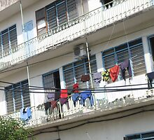 Cloth hang out for drying by MightyMike
