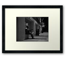 Guitarist Outside a Coffee Shop  Framed Print