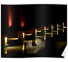 Red And Yellow Night Lights Poster