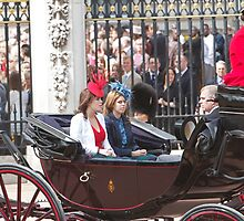 Prince Andrew along with his daughters by Keith Larby